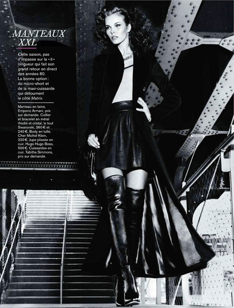Boot Fashion: Julia Vallimaki in Tabitha Simmons Thigh High Boots. Glamour France, 09.2011.