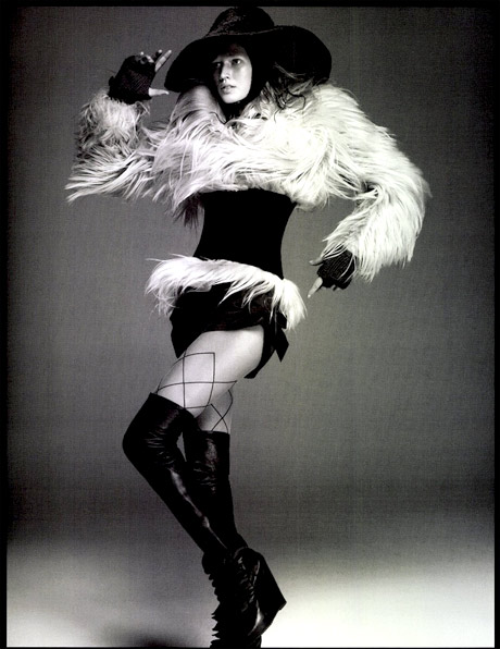 Boot Fashion: Toni Garrn in Rick Owens Thigh High Boots. Numéro Magazine 128, 11.2011.