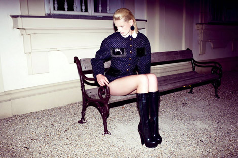Boot Fashion: Ilvie Wittek in Louis Vuitton Rubber Boots. Die Presse Austria, 10.2011.