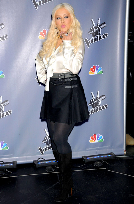 Celebrities in Boots: Christina Aguilera in Alexandre Birman Boots. Los Angeles, 10.28.2011.