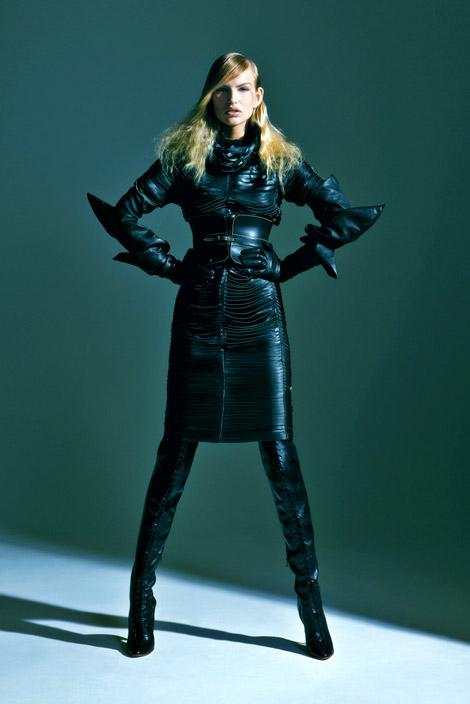 Boot Glove Fashion Kristina Vaiciunaite In Trussardi