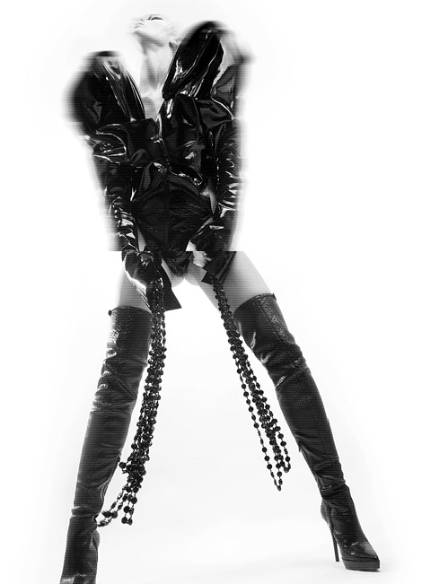 Boot Fashion: Caitlin Lomax in Burberry Prorsum Thigh High Boots. Tangent #4, 2010.
