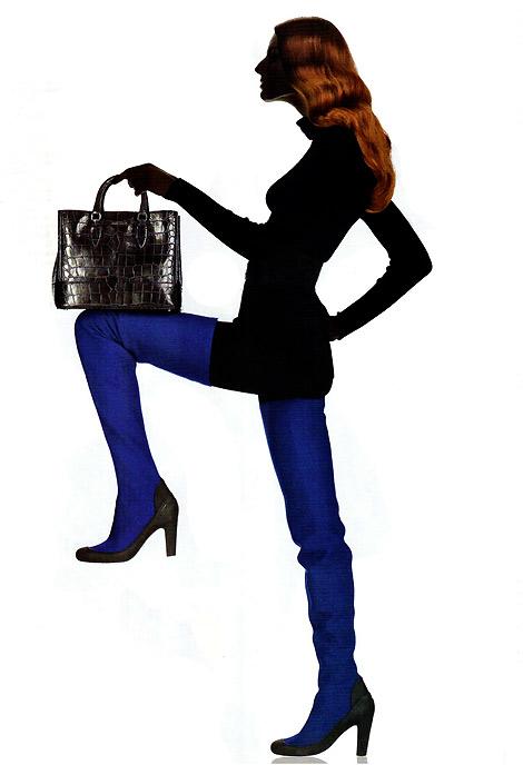 Boot Fashion: Iliana Papageorgiou in Pirelli Pzero Neoprene Crotch High Boots. Vanity Fair Italia, 09.2011.