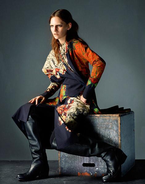 Boot Fashion: Sophie Hirschfelder in Knee High Boots. Push It Magazine, Spring 2012.