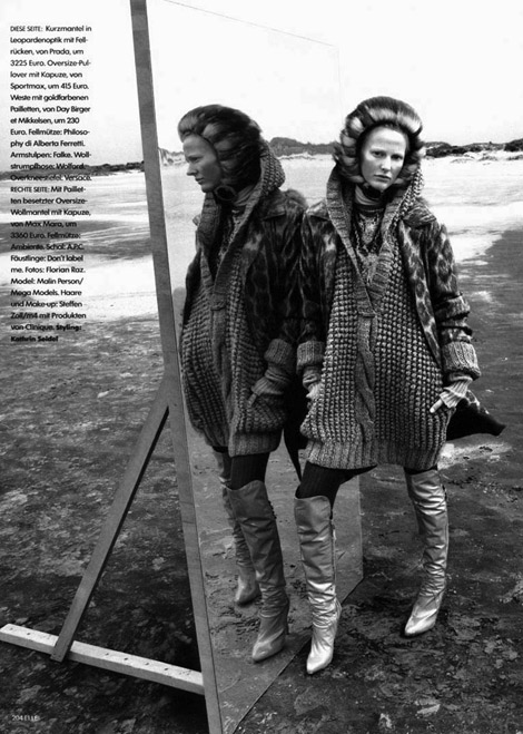 Boot Fashion: Malin Persson in Versace Over The Knee Boots. Elle Sweden, 03.2005.