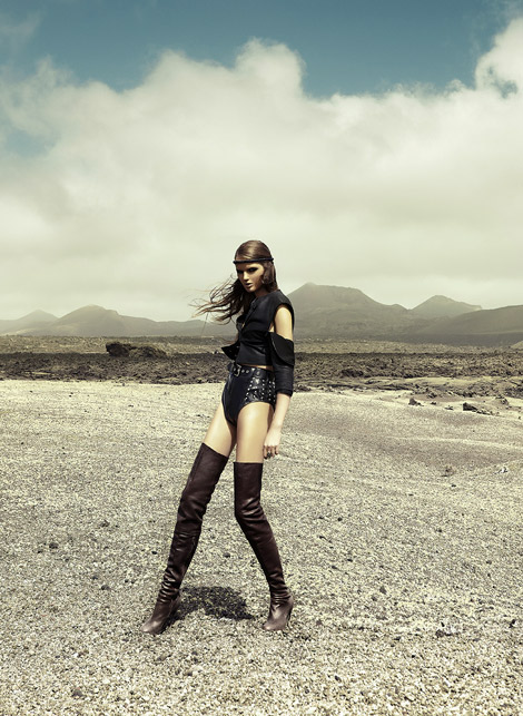 Boot Fashion: Olga Mazur in Maison Martin Margiela Thigh High Boots. TL Magazine #12.