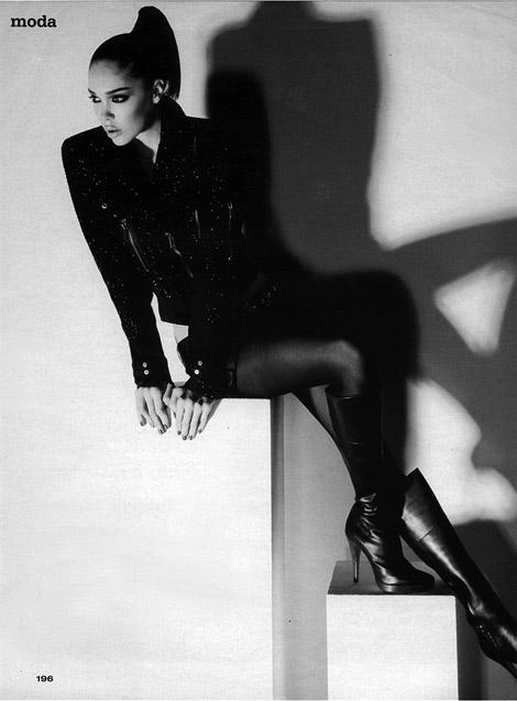 Boot Fashion: Michelle Dantas in Steve Madden Knee High Boots. Vogue Turkey, 09.2010.