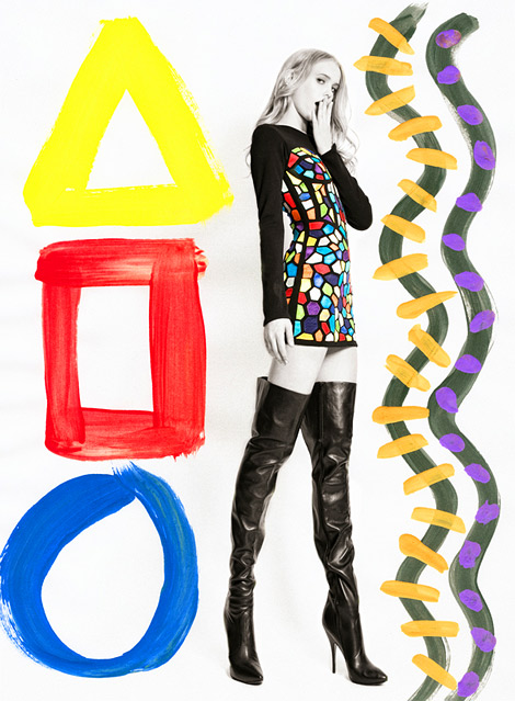 Boot Fashion: Unknown Model in Jeremy Scott Thigh High Boots. GL Wood Unreleased Editorial, 2010.