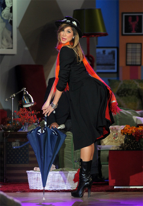 Celebrities in Boots: Melissa Satta in Boots. Kalispera, 12.23.2011.