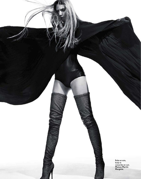 Boot Fashion: Sandra Malek in Maison Martin Margiela Thigh High Boots. Grazia France, 01.2012.