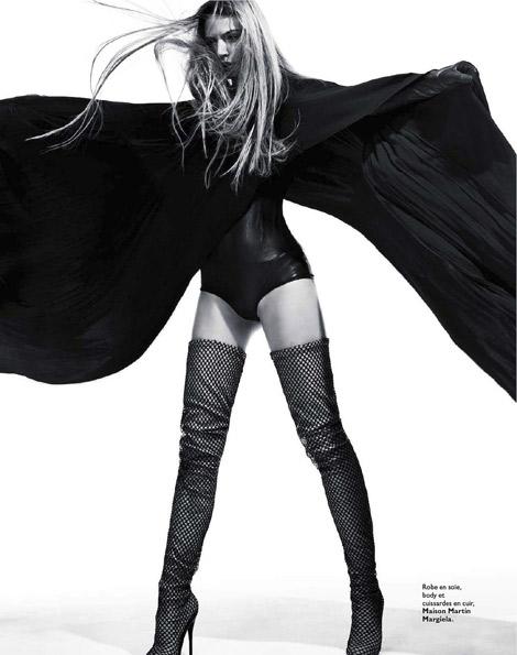 Boot Fashion: Sandra Malek in Maison Martin Margiela Thigh High Boots. Grazia France, 01.2012.