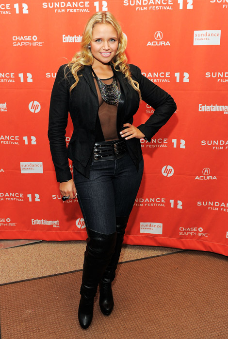 Celebrities in Boots: Veronika Dash on Over The Knee Boots. Sundance, 01.22.2012.