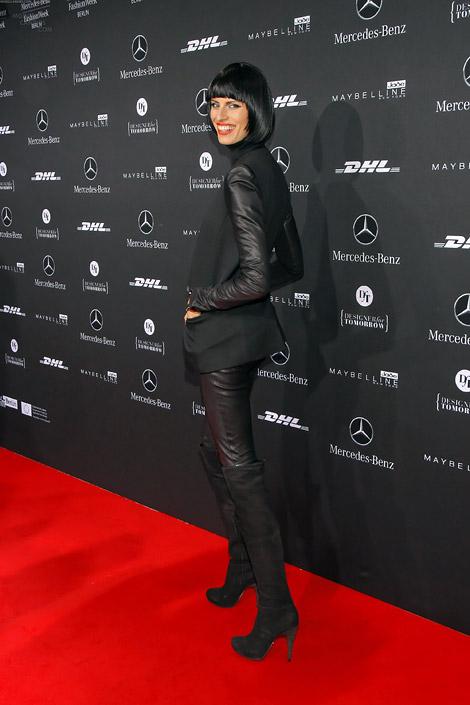 Celebrities in Boots: Karolina Kurkova in Over The Knee Boots. Berlin, 01.19.2012.