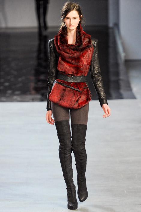 053d195473d7 Boot Fashion  Helmut Lang Thigh High Boots. New York Fashion Week