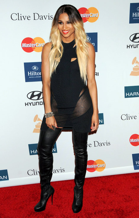 Celebrities in Boots: Ciara in Christian Louboutin Thigh High Boots. Los Angeles, 02.11.2012.