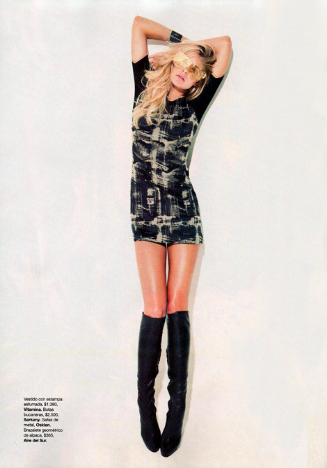Boot Fashion: Tori Praver in Sarkany Knee High Boots. Harper's Bazaar Argentina, 03.2012.