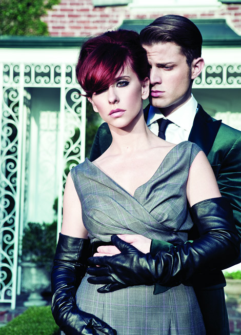 Celebrities in Gloves: Jennifer Love Hewitt in Leather Opera Gloves. Miami Living Magazine, Spring 2012.