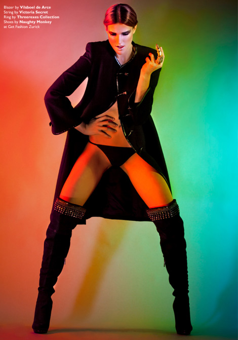 Boot Fashion: Bianca Bauer in Naughty Monkey Thigh High Boots. Factice Magazine #5.