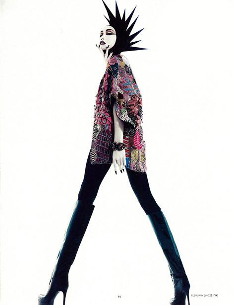 Boot Fashion: Eileen in Walter Steiger Knee High Boots. Zink Magazine, 02.2010.