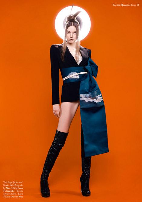 Boot Fashion: Mariya Markova in Thigh High Boots. Factice Magazine #11.