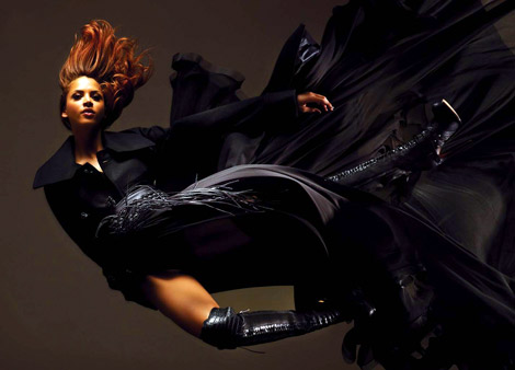 Boot Fashion: Noémie Lenoir in Christian Dior Over The Knee Boots. Vs. Magazine, 09.2011.