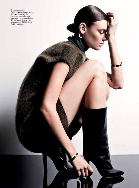 Boot Fashion: Montana Cox in Alexander Wang Boots. Vogue Australia, 07.2012.