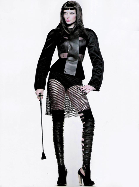 Boot Fashion: Thairine Garcia in Ellus Thigh High Boots. Harper's Bazaar Brasil, 05.2012.