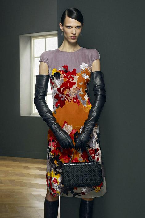 Glove Fashion: Aymeline Valade in Bottega Veneta Leather Opera Gloves. Bottega Veneta Fall/Winter 2012/13 Campaign.