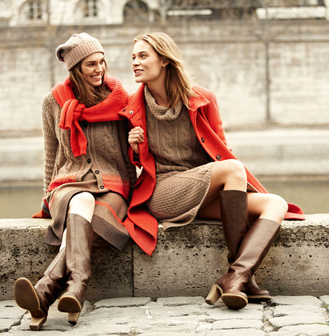 Boot Fashion: Barbara Di Creddo and Samantha Gradoville in Max Mara Knee High Boots. Max Mara Weekend 2012/13 Campaign.