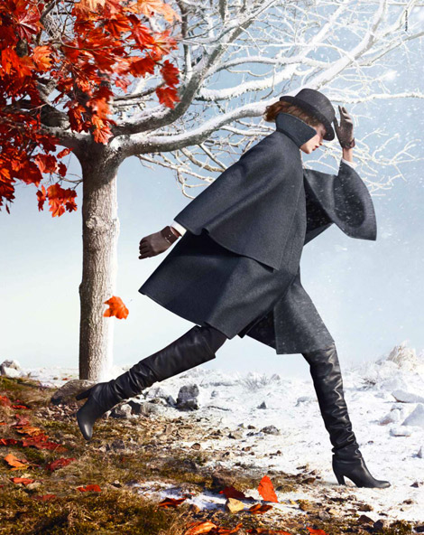 Boot Fashion: Bette Franke in Hermés Over The Knee Boots. Hermés Fall/Winter 2012/13 Campaign.