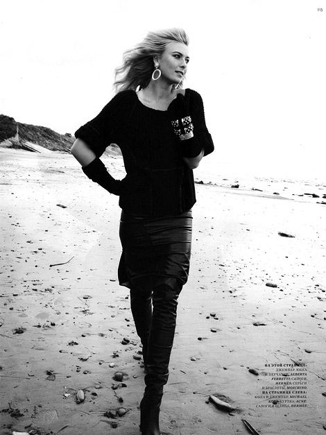 Celebrities in Boots: Maria Sharapova in Hermès Thigh High Boots. Harper's Bazaar Russia, 08.2012.