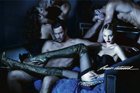 Boot Fashion: Candice Swanepoel in Brian Atwood Thigh High Boots. Brian Atwood Fall/Winter 2012/13 Campaign.