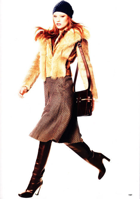 Boot Fashion: Barbara Meier in Salvatore Ferragamo Knee High Boots. InStyle Germany, 11.2010.