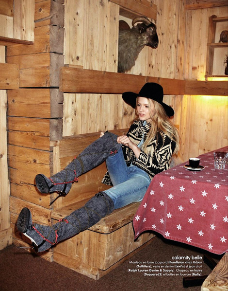 ec756281375d Boot Fashion  Unknown Model in Bally Over The Knee Boots. Elle France