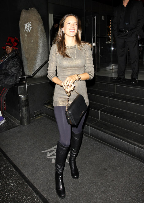 Celebrities in Boots: Alessandra Ambrosio in Michael Kors Over The ...