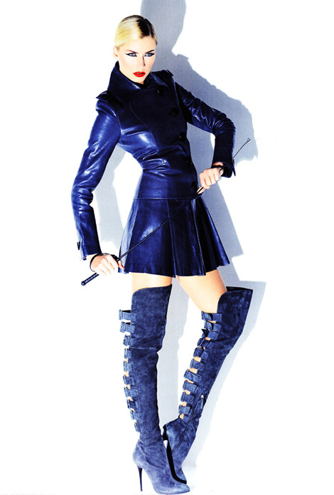 37cd21cd Celebrities in Boots: Lena Gercke in Giuseppe Zanotti Over The Knee ...