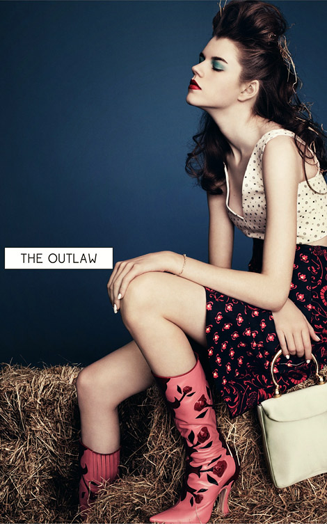 Boot Fashion: Antonia Wesseloh in Miu Miu Boots. Dazed & Confused Magazine, 04.2012.