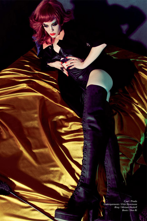 Boot Fashion: Taylor Warren in Doo Ri Thigh High Boots. Schön! Magazine #15, Winter 2011.
