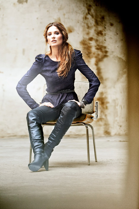 Boot Fashion: Barbara Mina in Oxmo Knee High Boots. Oxmo Fall/Winter 2010 Campaign.