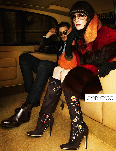Boot Fashion: Querelle Jansen in Jimmy Choo Knee High Boots. Jimmy Choo Fall/Winter 2012/13 Campaign.