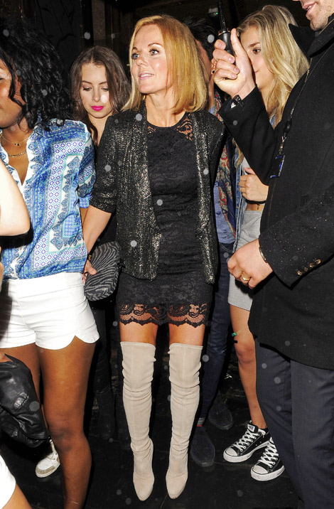 Celebrities in Boots: Geri Halliwell in Thigh High Boots. London ...
