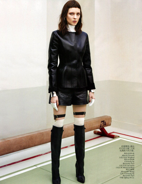 Boot Fashion: Kati Nescher in Givenchy Knee High Boots. Vogue China, 08.2012.