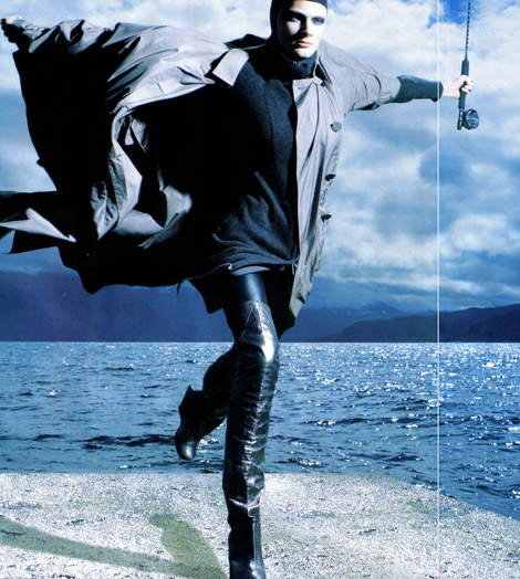 Boot Fashion: Constance Jablonski in Rick Owens Thigh High Boots. Marie Claire Italia, 10.2008.