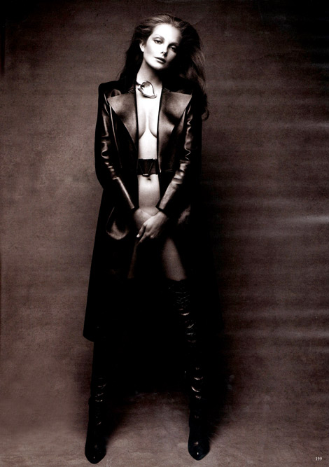 Boot Fashion: Eniko Mihalik in Altuzarra Over The Knee Boots. Vogue Germany, 08.2012.