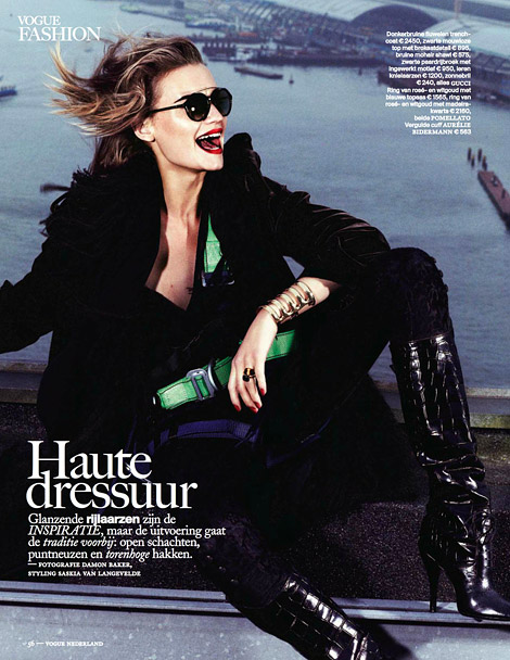 Boot Fashion: Laura Blokhina in Gucci Knee High Boots. Vogue Netherlands, 09.2012.