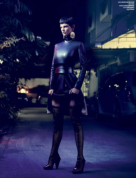 Boot Fashion: Saskia de Brauw in Versace Thigh High Boots. V Magazine #79, Fall 2012.
