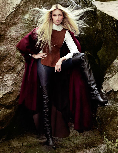 Boot Fashion: Natasha Poly in Hermès Thigh High Boots. Vogue Turkey, 09.2012.