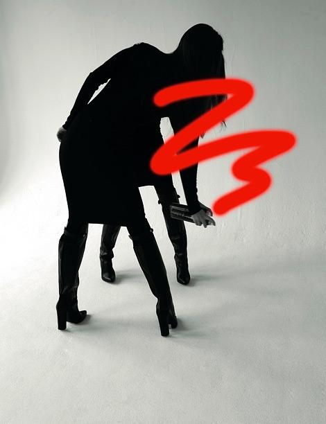 Boot Fashion: Franziska Mueller in Alexander Wang Knee High Boots. AnOther Magazine, Fall 2012.