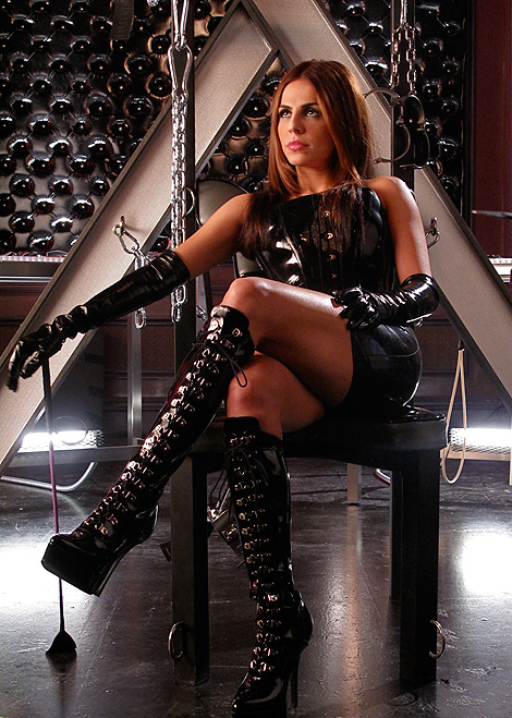 Celebrities in Boots: Azita Ghanizada in Laced Knee High Boots. 'Castle' Still, 2010.