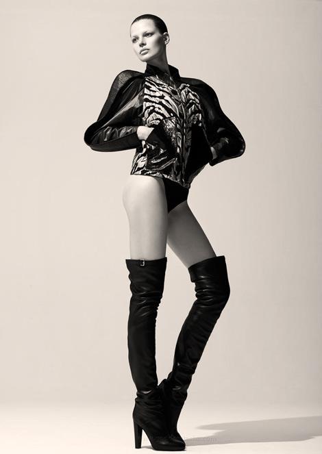Boot Fashion: Bekah Jenkins in Hermès Thigh High Boots. Bambi Magazine, Fall 2012.